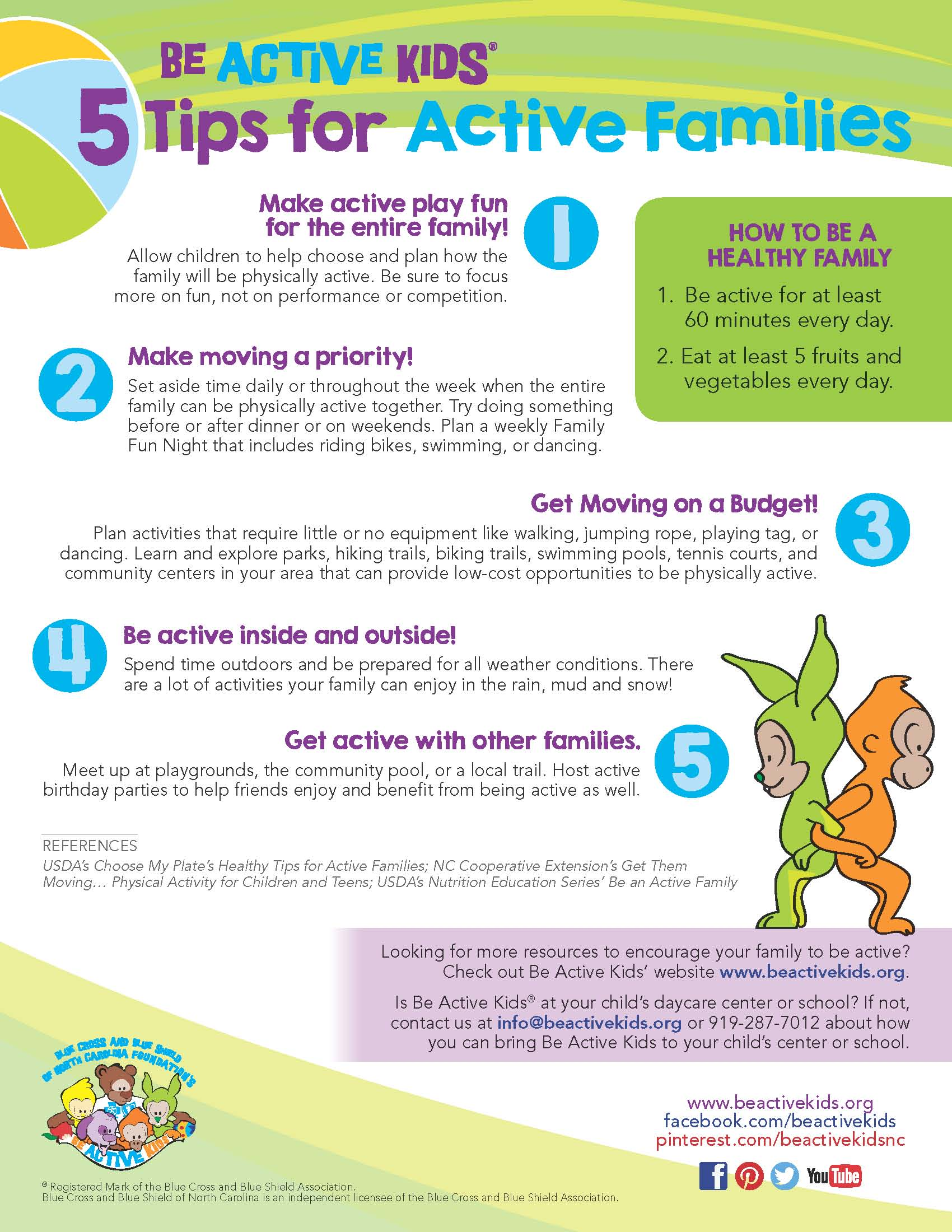 Tips For Active Families Beactivekids