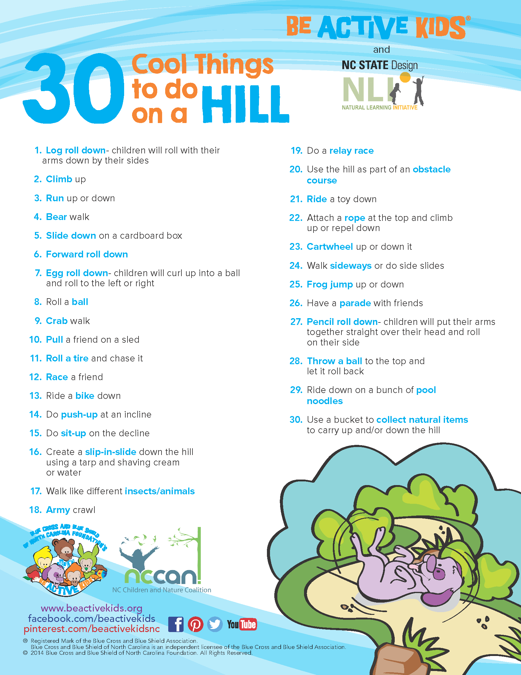 Handouts Beactivekids Electric Tarp Relay 30 Cool Things To Do On A Hill