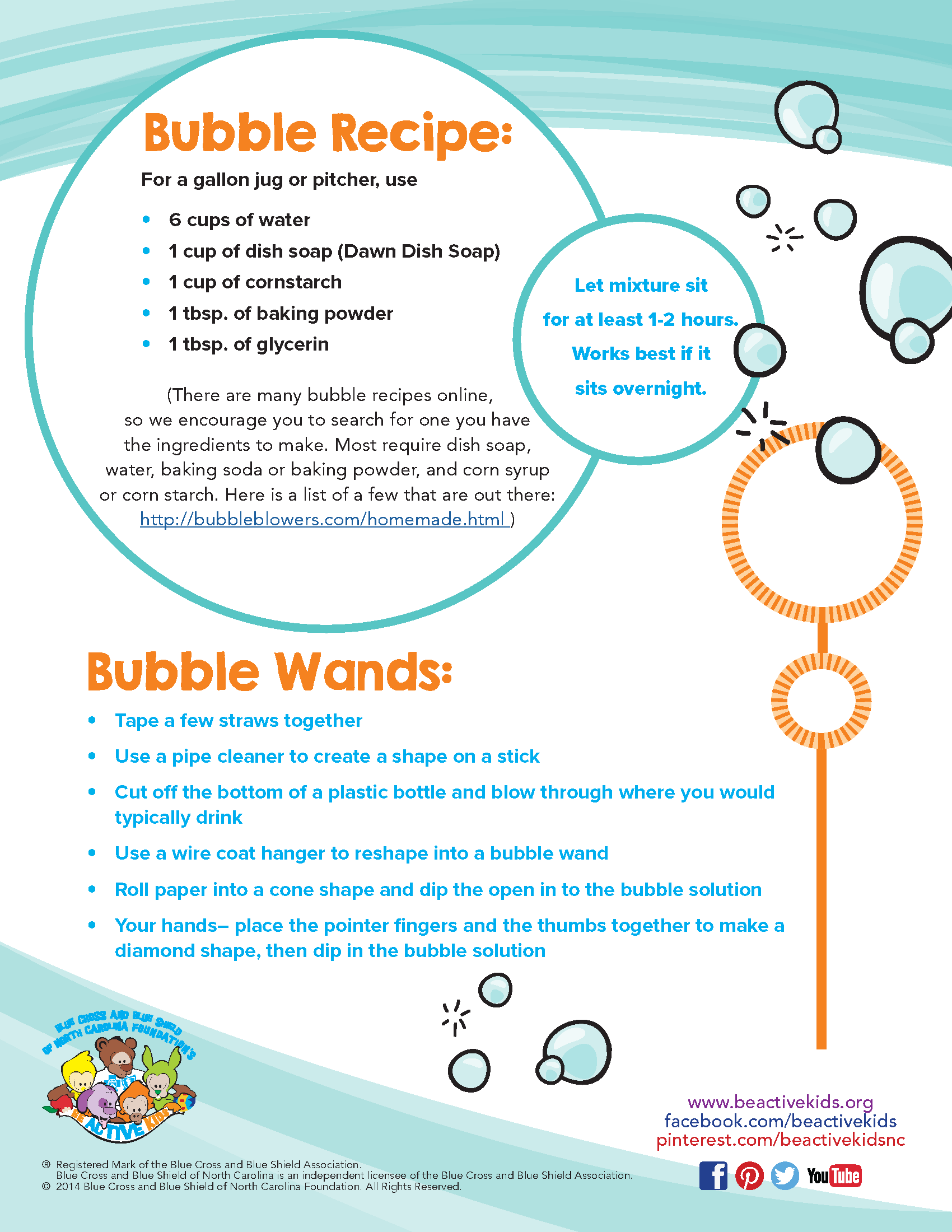How to Make Bubbles and Bubble Wands