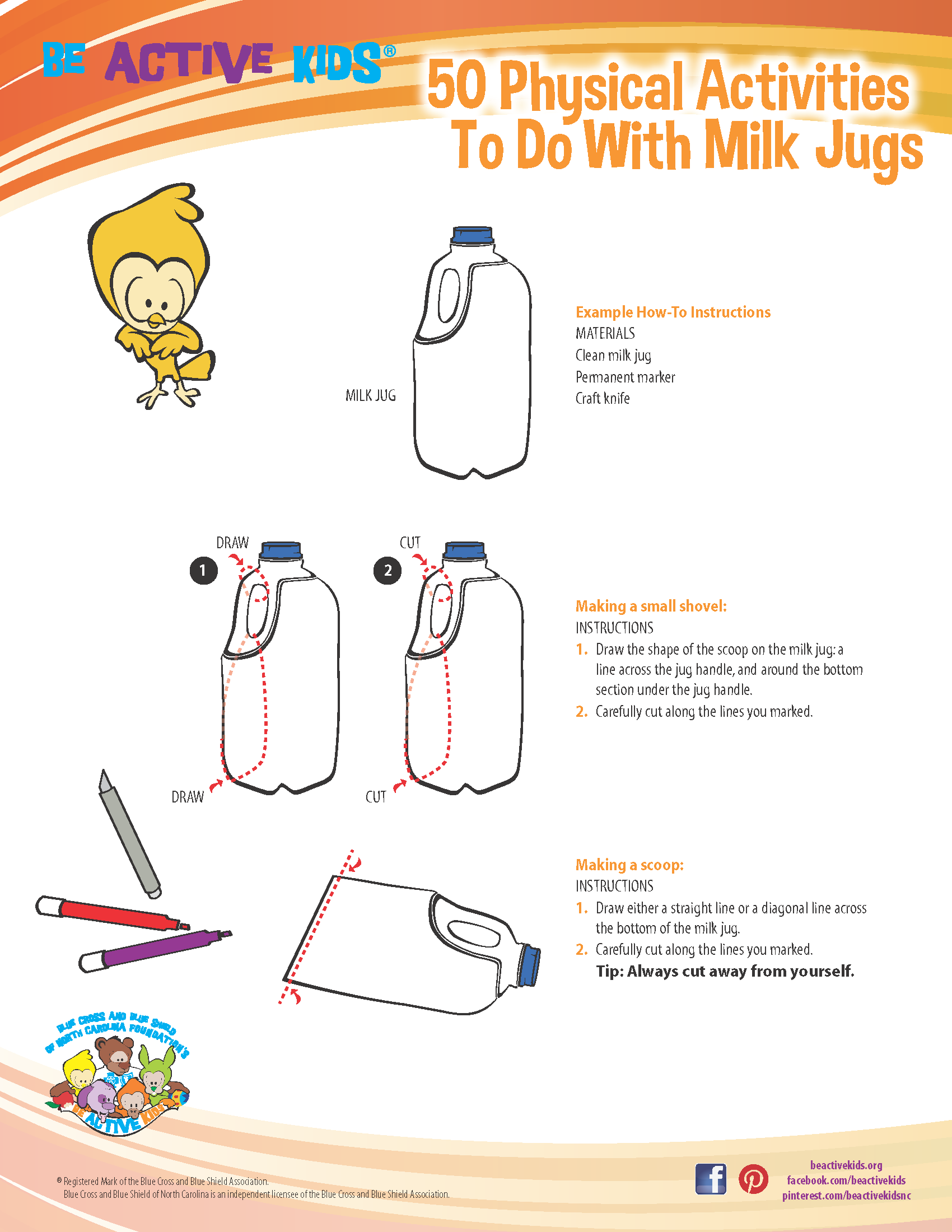 How to Make a Milk Jug Scoop